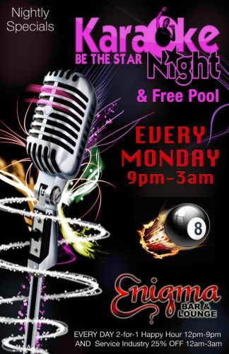 Karaoke & Free Pool Monday Nights