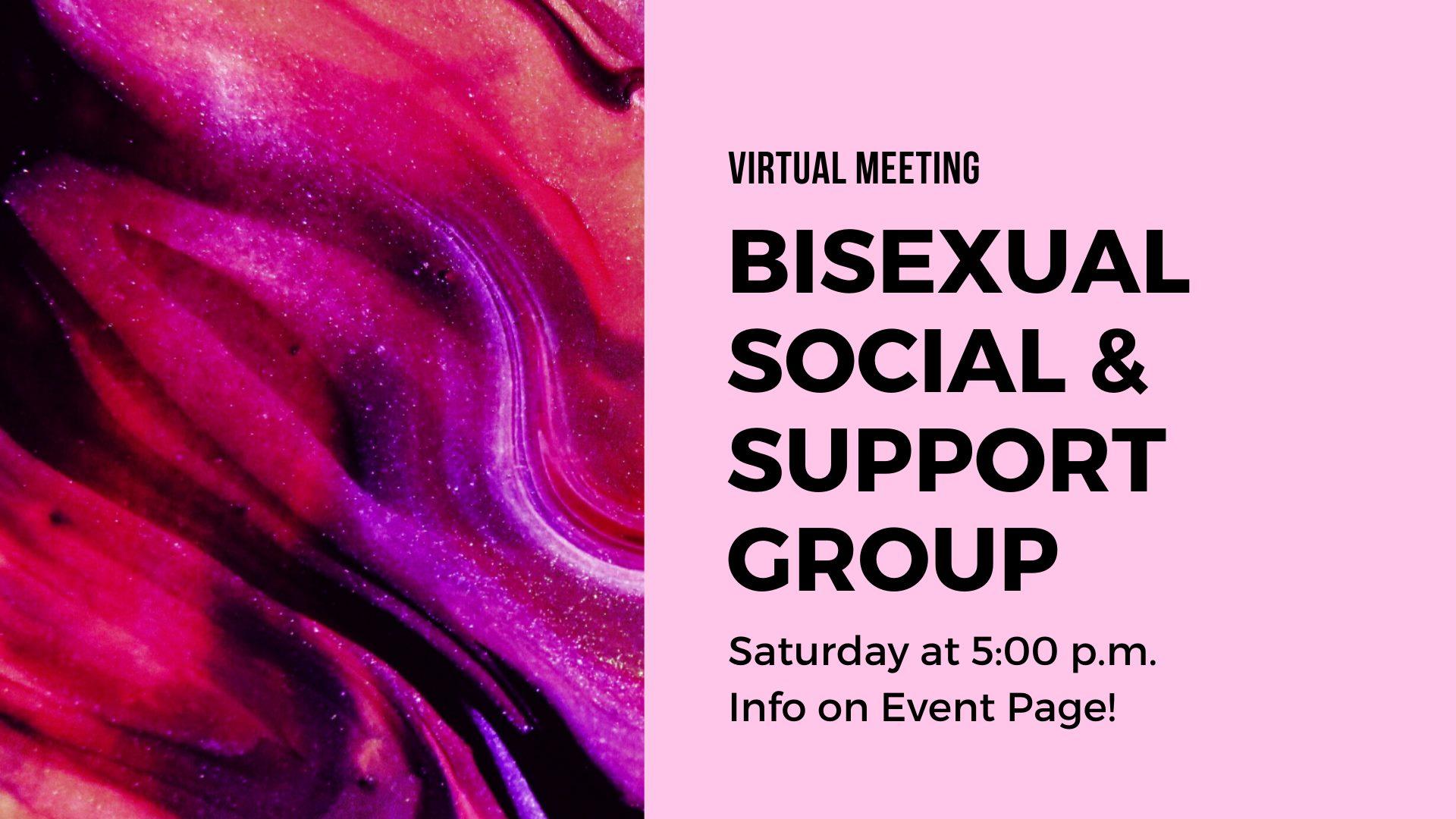 Virtual - Bisexual Support & Peer Group