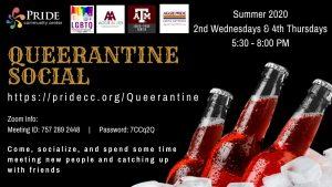 Summer 2020 Queerantine Socials