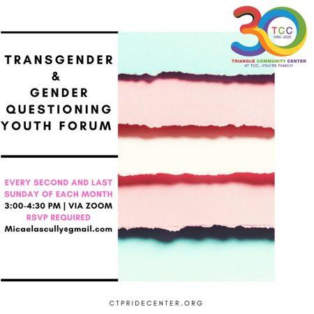 Transgender & Gender Questioning Youth Forum
