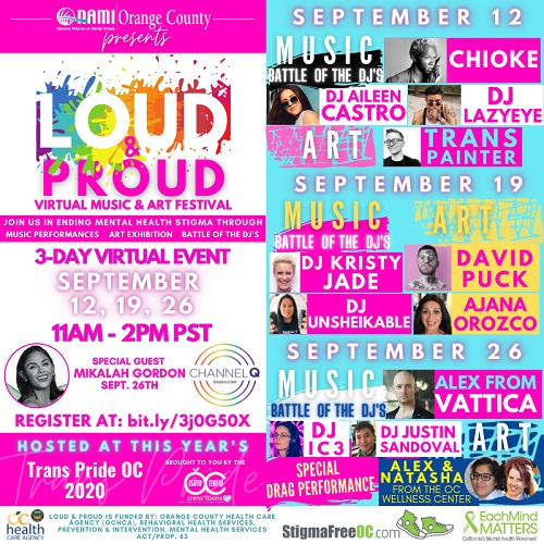 """Loud & Proud"" Virtual Music & Art Festival"