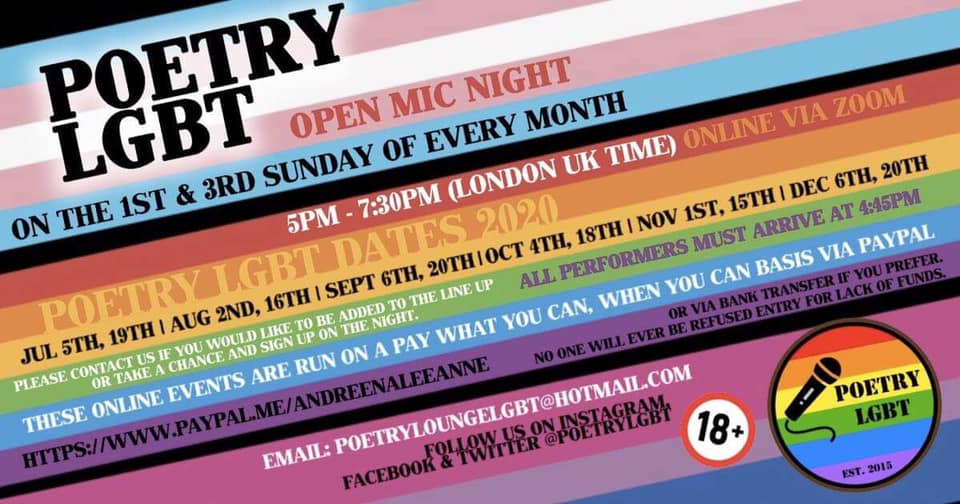 Poetry LGBT Open Mic On Zoom