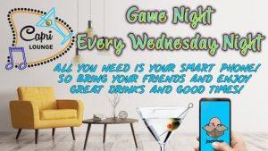Wednesday Game Night!