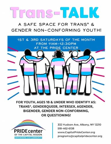 Trans*/Gender Non-Conforming Youth Group (T-Talk)
